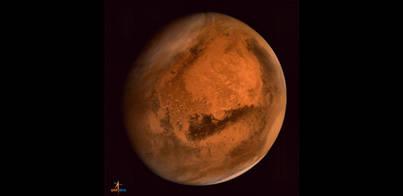 Impresionante imagen de Marte tomada por Mangalyaan