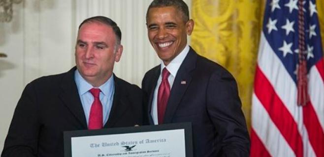 Obama pone al chef José Andrés como ejemplo