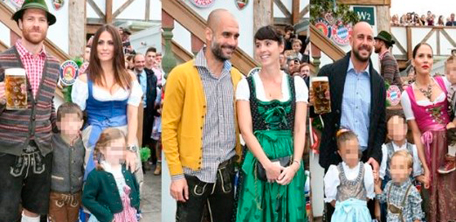Alonso, Reina y Guardiola se divierten en el Oktoberfest