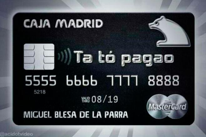 Tenemos la tarjeta de crédito de Blesa