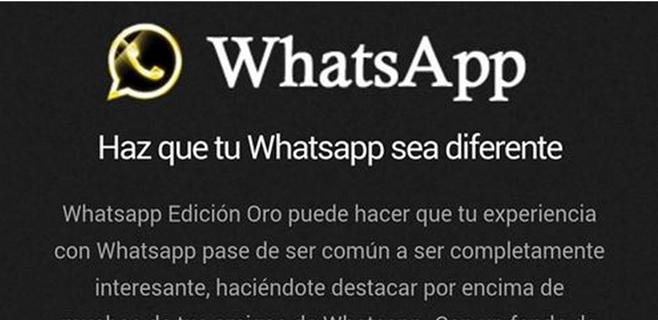 La Policía alerta del timo del WhatsApp Edición Oro