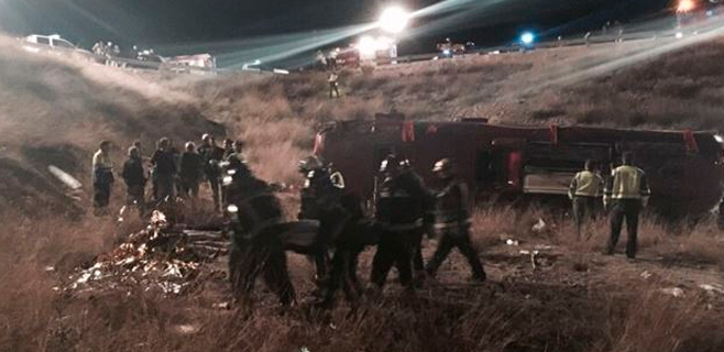 14 muertos en el accidente de un autobús en Murcia