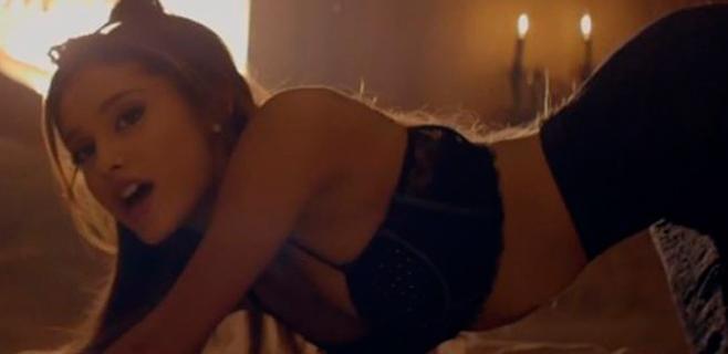 Ariana Grande se pone muy sexy para su último clip