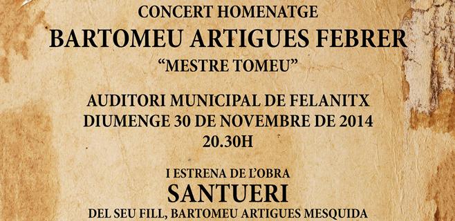 Concierto homenaje a Bartomeu Artigues