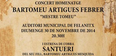 Concierto homenaje a Bartomeu Artigues 'Mestre Tomeu'