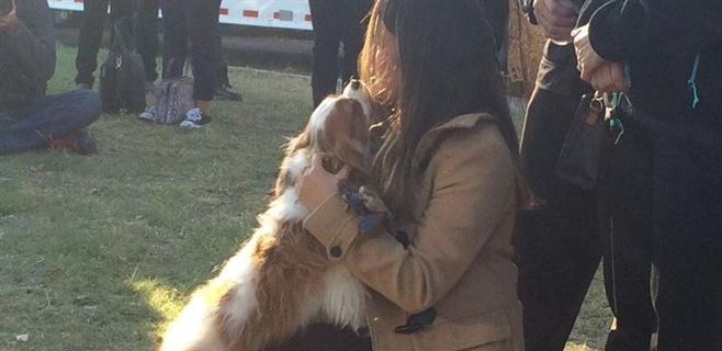 La mujer que superó el ébola en EEUU se reúne con su perro