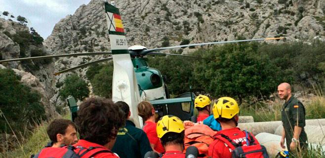 Rescatada una mujer en las Coves des Pilar