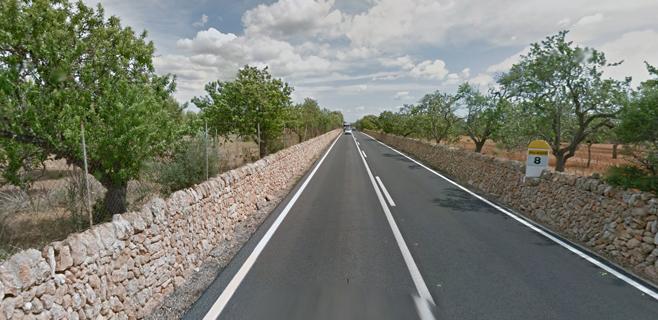 Un muerto en una colisión frontal en la carretera de Llucmajor a S'Estanyol