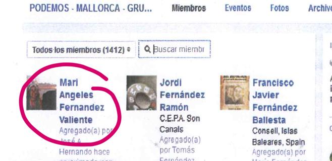 La mujer de José Hila se ha unido al grupo de apoyo a Podemos