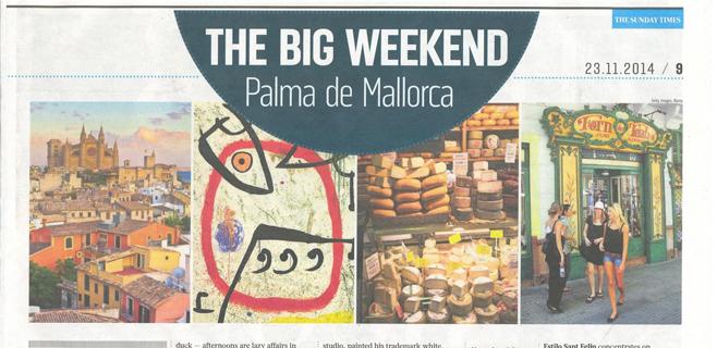 El Sunday Times publica un reportaje sobre un gran fin de semana en Palma