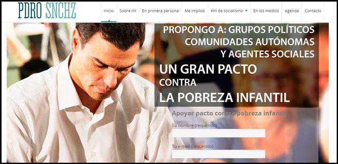 Twitter se ríe de la web personal de Pedro Sánchez