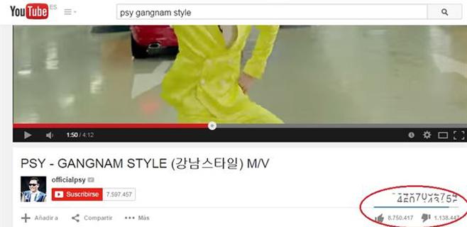 """""""Gangnam Style"""" rompe el contador de visitas"""