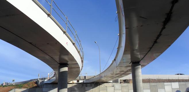 El acceso del Molinar desde el autopista del aeropuerto se abrirá en febrero