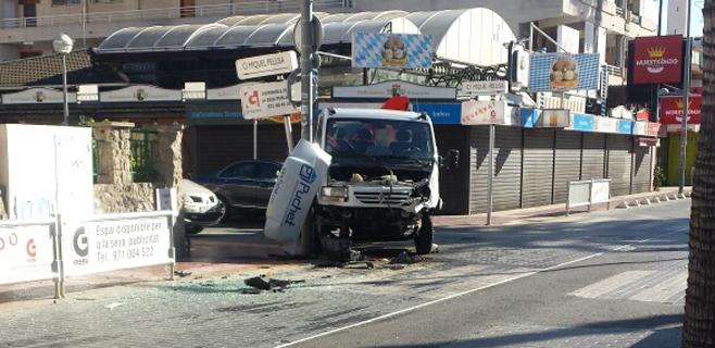2 heridos en un accidente en El Arenal