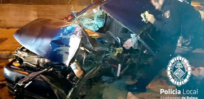 Fallece la copiloto del coche que chocó contra un árbol en Son Cladera