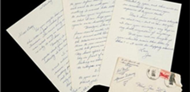 Vendida una carta de amor de DiMaggio a Marilyn Monroe