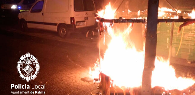 Arde un contenedor en Niceto Alcalá Zamora