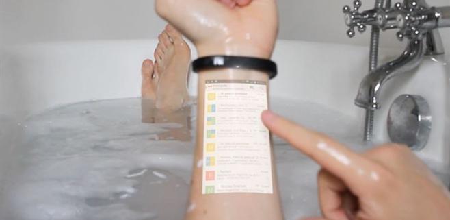 Cicret Bracelet transforma nuestra piel en una tablet
