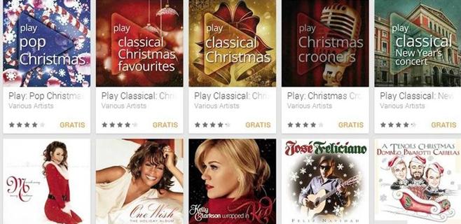 Google Play regala cinco álbumes en Navidad