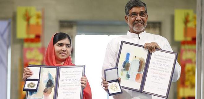 Malala y Kailash Satyarthi reciben el Nobel de la Paz