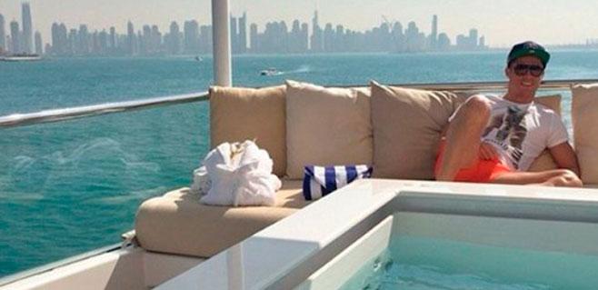 Cristiano Ronaldo, apura sus vacaciones en Dubái