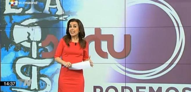 Telemadrid mezcla los logos de Podemos, ETA y Sortu