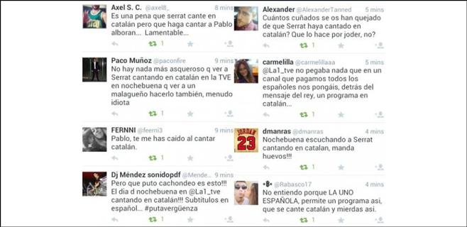 Críticas a TVE por emitir actuaciones en catalán