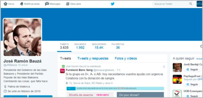 Detenido por injuriar y amenazar de muerte a Bauzá y al PP en Twitter