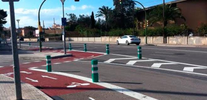 Palma estrena carril bici entre el Camí Vell de Bunyola y el centro