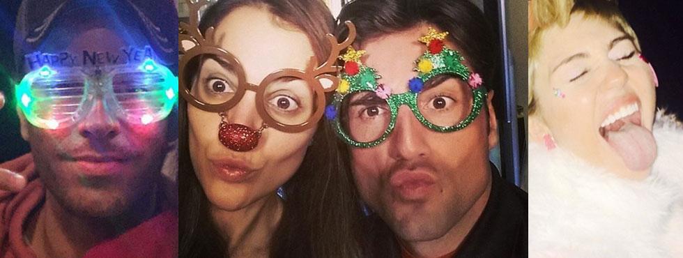 Las fotos más curiosas de los famosos  para  felicitar  el  año  nuevo  a  sus  seguidores