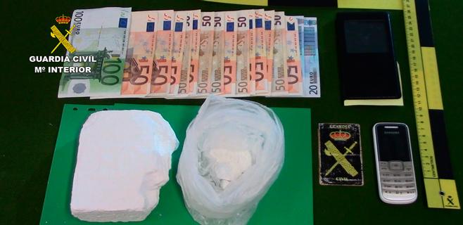 Detenido en Artà cuando llevaba medio kilo de cocaína muy pura en el coche