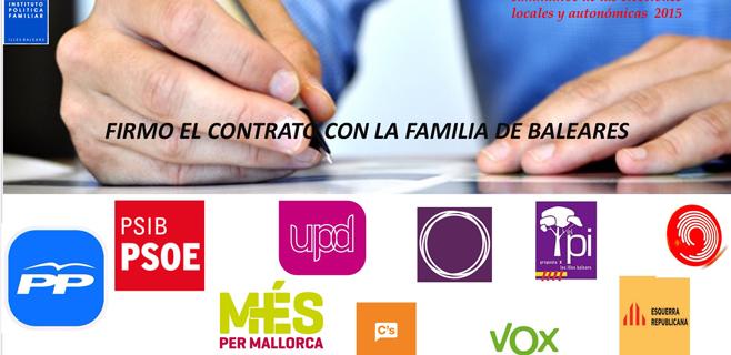 IPFB propone un contrato con la familia a los partidos políticos de Balears