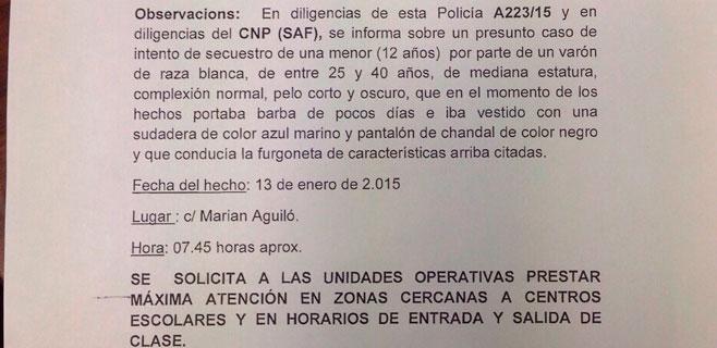 Vigilancia especial en Hostalets tras una denuncia por intento de secuestro