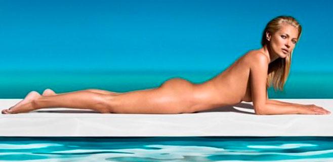 Kate Moss se muestra espectacular a los 41