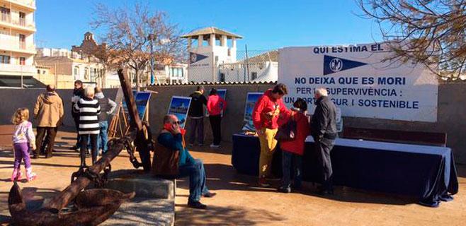 Doce asociaciones del Molinar salen en apoyo de la remodelación del puerto