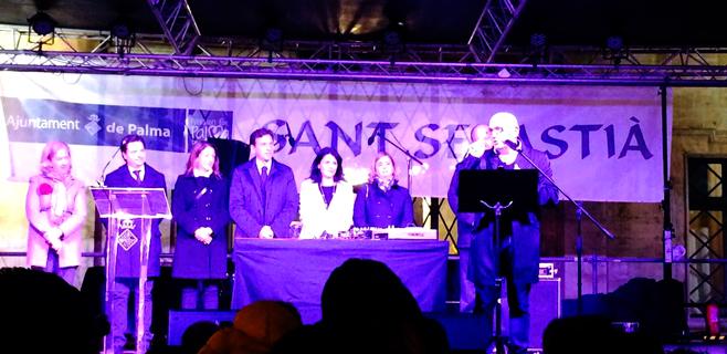 Juan Campos le da ritmo discotequero al pregón de Sant Sebastià en Cort