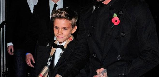 Romeo Beckham ya viste mejor que su padre