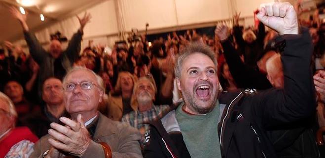 Syriza roza la mayoría absoluta