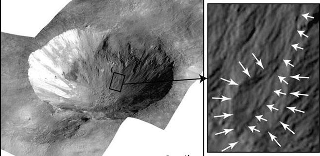 Sorprendentes rastros de agua en el asteroide gigante Vesta