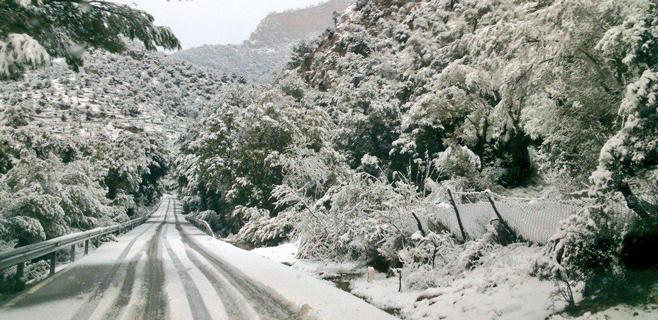 Mallorca amanece nevada