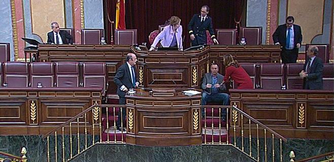 El diputado Joan Baldoví se desmaya en el pleno del Congreso