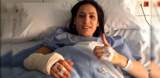 Brigitte Yagüe, operada con éxito de la mano