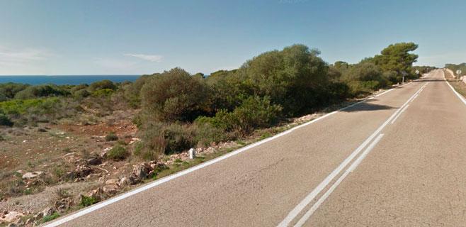 Herido de gravedad un ciclista al caer en la carretera de Cap Blanc a S'Arenal