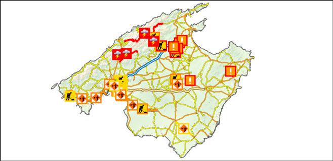 Cuatro carreteras permanecen cerradas en la Serra a causa de la gran nevada
