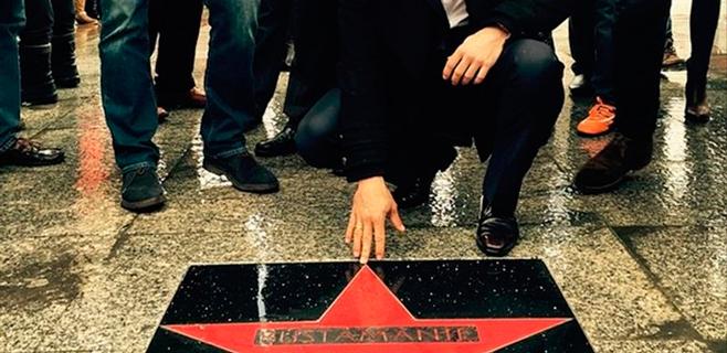 La primera estrella de la fama de Santander es la de Bustamante