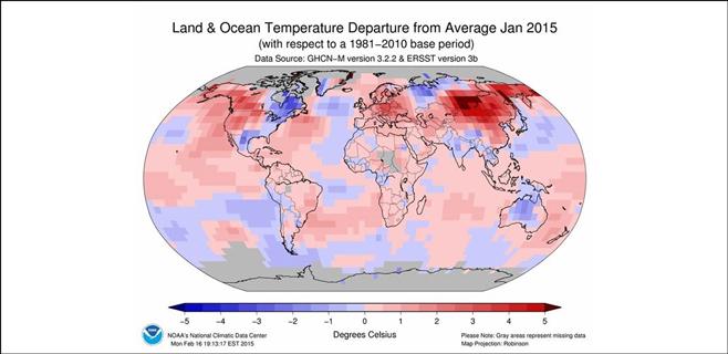 Este enero fue el segundo más caluroso desde 1880