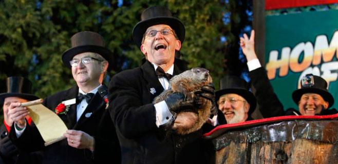 La marmota Phil anuncia un invierno 6 semanas más largo