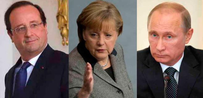 Habrá cumbre Merkel, Hollande, Putin y Poroshenko