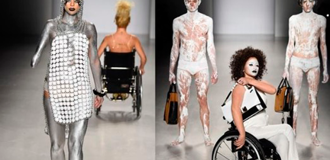 Modelos discapacitadas en la Semana de la moda