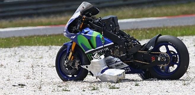 Lorenzo sufre un aparatoso accidente en Malasia